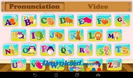 Android1.0のアルファベット-英語のアルファベットを学ぶ