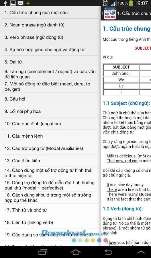 Android1.0の英文法レビュー-Androidで無料の英文法練習