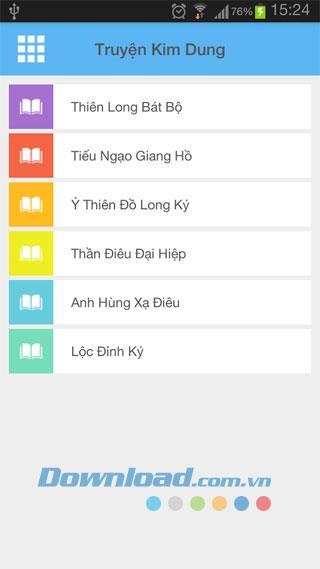 Truyen Kim Dung für Android 1.0 - Sammlung von Geschichten über das Schwertspiel Kim Dung