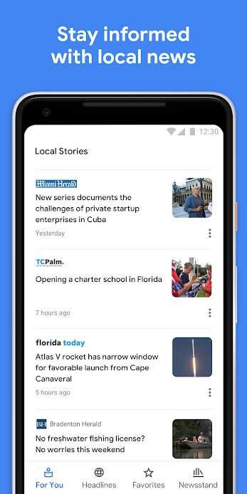 Google News für Android 5.8.0 - Google Zeitungsleser für Android