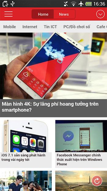 GenK for Android3.19-Androidでテクノロジーニュースを読むためのアプリケーション
