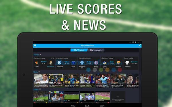 365Scores:Android2.4.3のライブスコアとニュース-365のスポーツニュースを更新