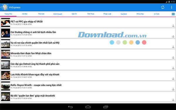 Android8.2.6のベトナムニュース-ニュースを読むためのアプリケーション