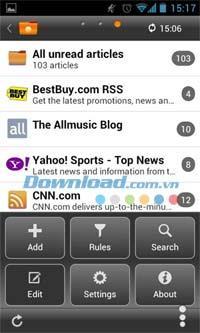 Android1.2用スマートフィードリーダー-Androidのフィードを介してニュースを更新します