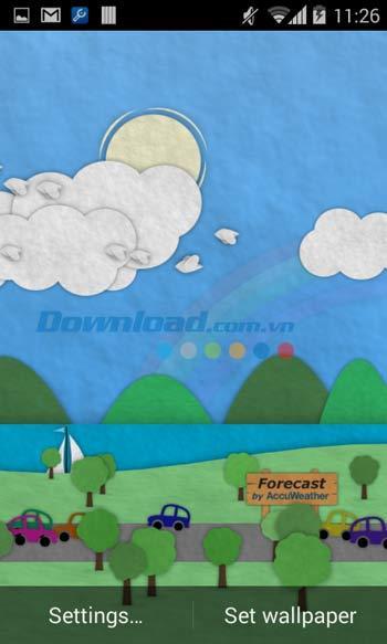 Android4.4用のPaperlandライブ壁紙-Android上のペーパーライブ壁紙