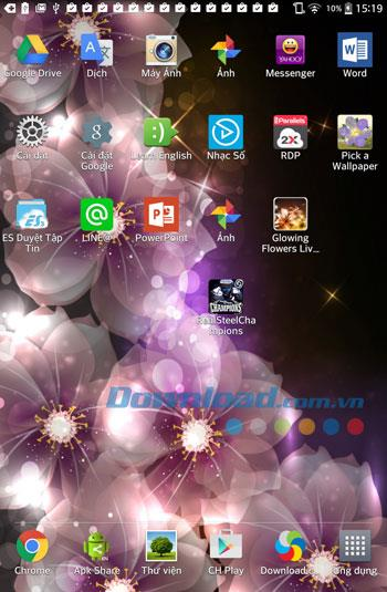 Android5.0用の輝く花のライブ壁紙-Android上の輝く花のライブ壁紙