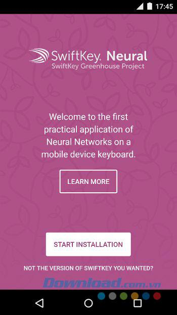 SwiftKey Neural Alpha forAndroid-Android上のスマートキーボードアプリケーション