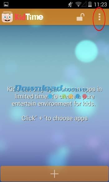 KidTime für Android 1.01 - Anwendung zum Schutz von Kindern bei der Verwendung von Android-Handys