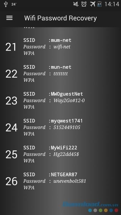 Wifi Password Recovery für Android 1.5 - Sichern, Wiederherstellen und Verwalten von Wifi-Passwörtern auf Android