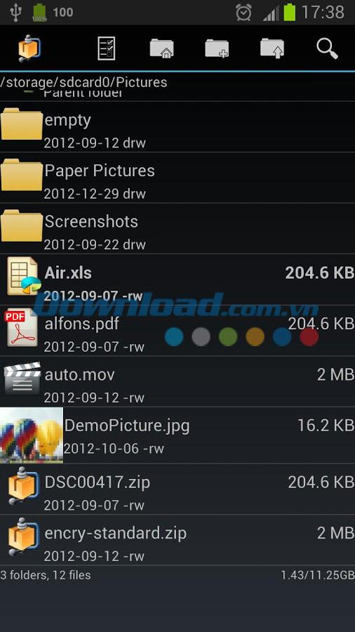 AndroZip File Manager for Android4.6.4-Android用の効果的なファイルマネージャー