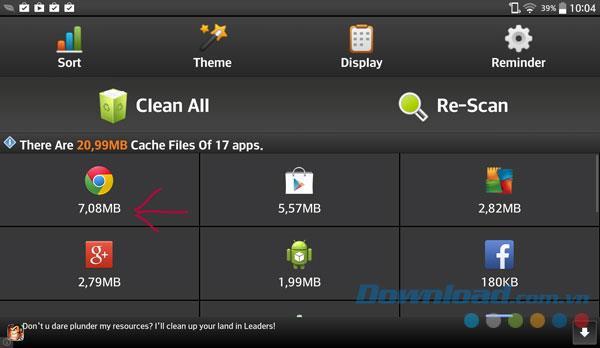 Cache Cleaner Easy für Android 1.28 - Leeren Sie den Cache und beschleunigen Sie das Android-Handy