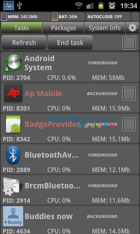 System Monitor für Android 1.8.4 - Effektiver Systemmanager für Android