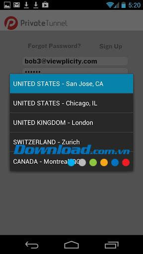 Android2.0.16用のプライベートトンネルVPN-Android用の仮想プライベートネットワーク
