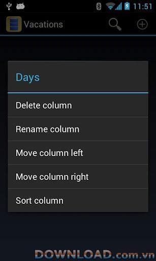 Meine Daten für Android - Datenbankmanager für Android
