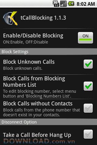 tCallBlocking für Android