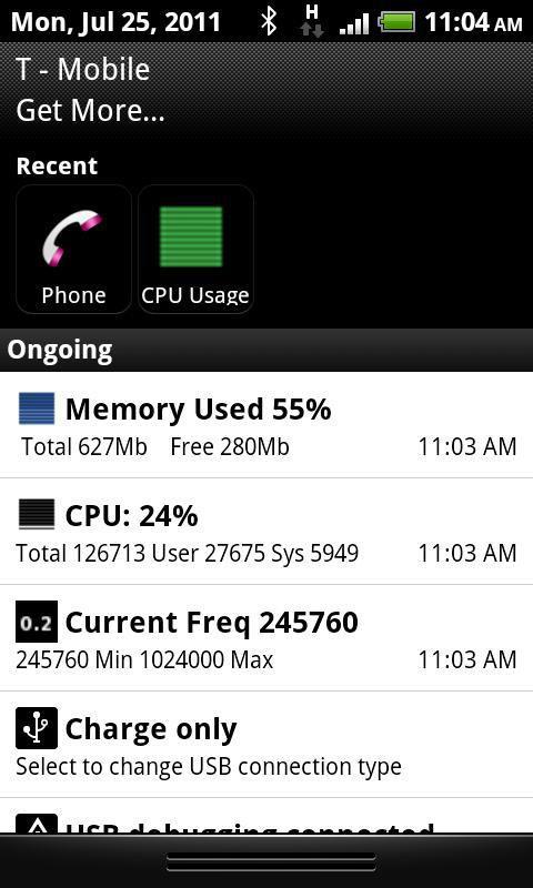 Android用CPU使用率モニター