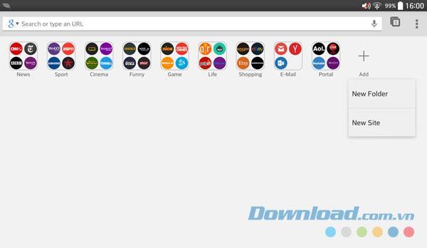 Tably Browser für Android 1.1.0 - Superschneller Browser für Android