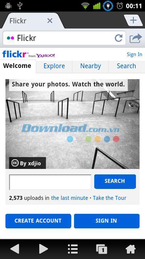 Ninesky Browser für Android 2.5.1 - Webbrowser für Android-Handys
