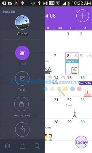 Naver Calendar for Android3.0.8-Androidの超かわいいパーソナルカレンダー