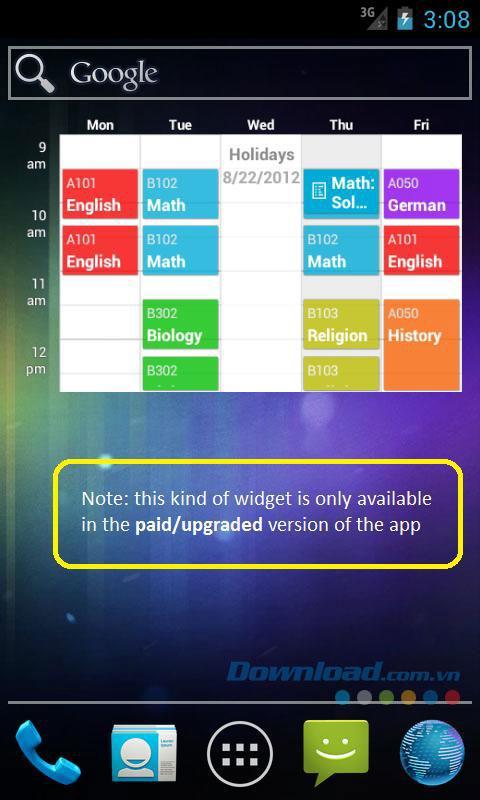 Android用のマイクラススケジュール-Androidでクラススケジュールをより簡単に管理