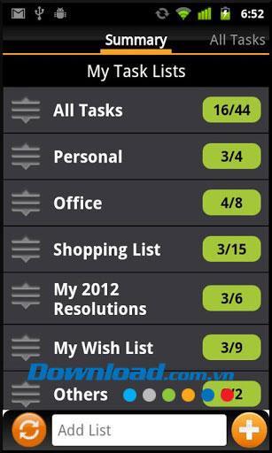 Aufgaben N Todos für Android 1.1.8 - Effektiver Aufgabenmanager für Android