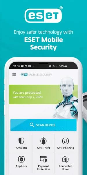 ESET Mobile Security&Antivirus for Android6.0.25.0-Androidの主要なセキュリティおよびウイルス対策ソフトウェア