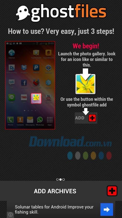 写真を隠すGhostFilesVault for Android2.4.4-Androidでファイルを隠す