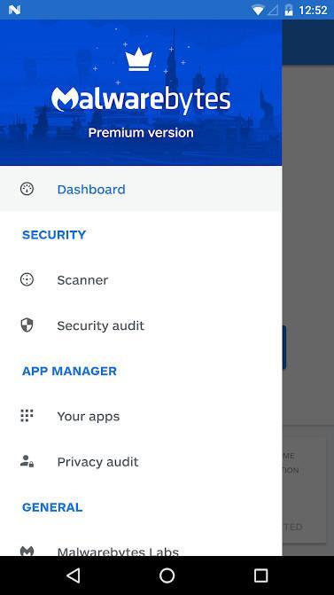 Android3.7.5.8のMalwarebytesSecurity-Androidでの効果的なウイルススキャンとマルウェアの削除