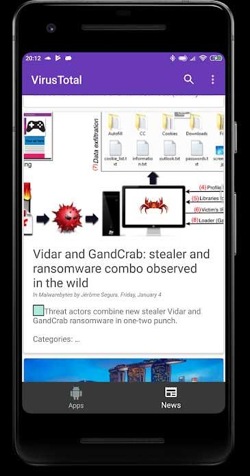 VirusTotal Mobile for Android1.18.2b-Androidアプリでウイルスをスキャンします