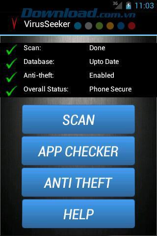 Android用ウイルスシーカーモバイルセキュリティ-ウイルスを削除してAndroidデバイスを保護します