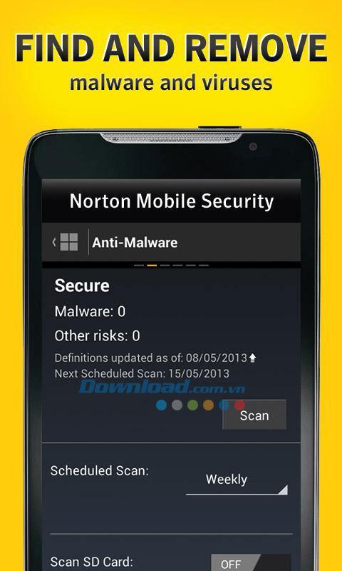 NortonSecurityアンチウイルスforAndroid3.5.0.1025-Androidで効果的なアンチウイルス