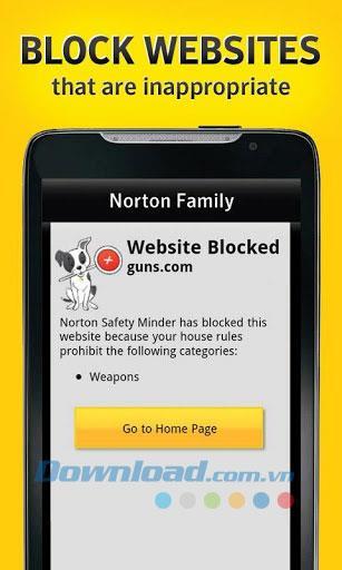 Norton Online Family für Android 2.8.0.77 - Überwachung der Online-Aktivitäten von Kindern