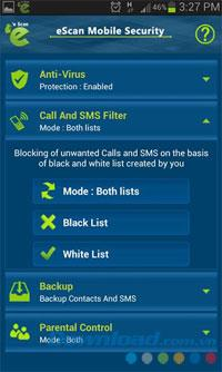 eScan Mobile Security for Android5.0.0.6-Androidデバイスセキュリティソフトウェア