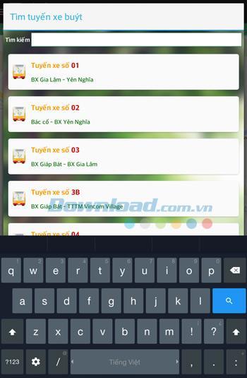 Android1.1のバスマップ-Androidでバス路線を検索する