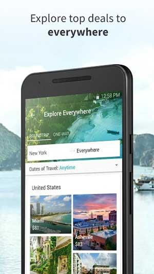 Skyscanner for Android5.62-Androidでフライトを検索
