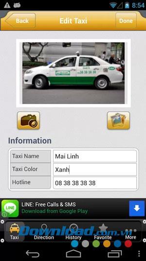 Taxikosten für Android 1.1 - Software zur Suche nach den besten Taxiunternehmen