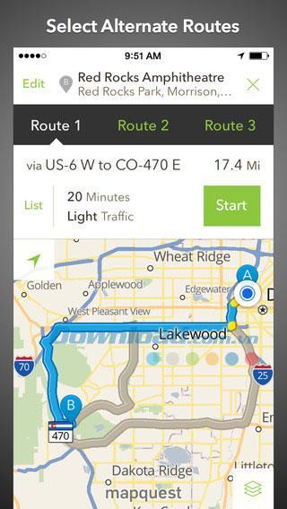 MapQuest GPS Navigation & Maps für Android - Präzise Navigationskarten für Android