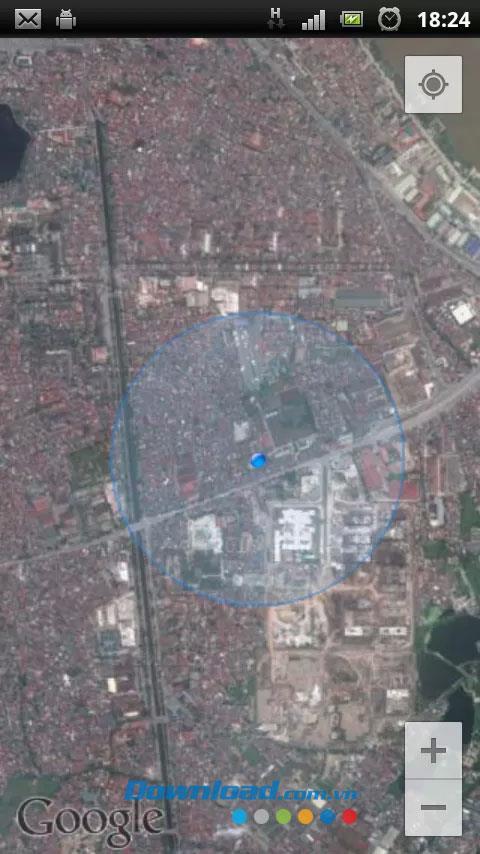 Android1.1の衛星地図-ソフトウェア衛星画像