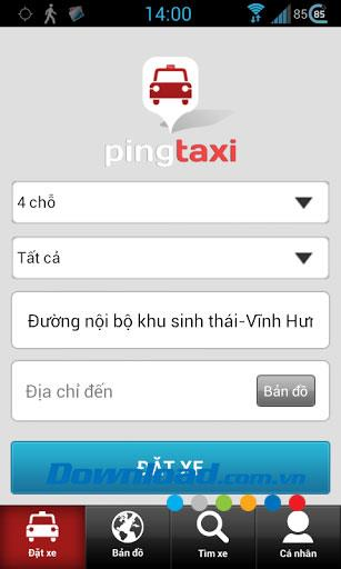 Pingtaxi Client for Android1.0-顧客向けのタクシー予約サポートソフトウェア