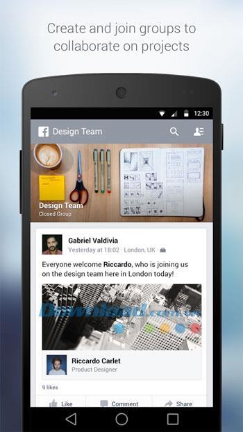 Facebook forAndroidの職場-Androidのビジネスソーシャルネットワーク