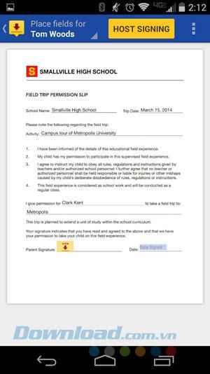 DocuSign - Signieren und Senden von Dokumenten für Android 2.5.1 - Erstellen Sie eine elektronische Signatur für Android