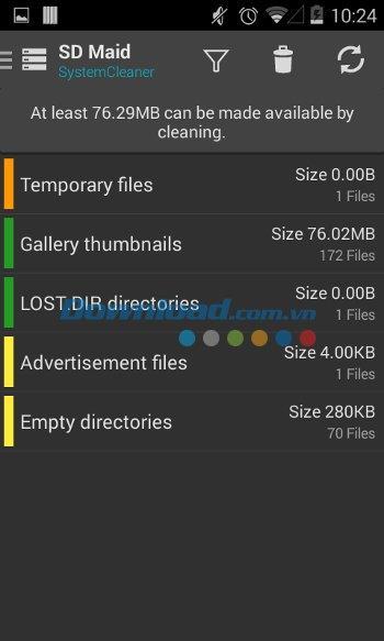 SDメイドforAndroid4.4.1-完璧なAndroidデバイスクリーニングアプリ