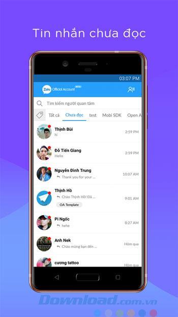 Zalo OA Admin for Android2.0.5-Zaloのページを管理するためのアプリケーション