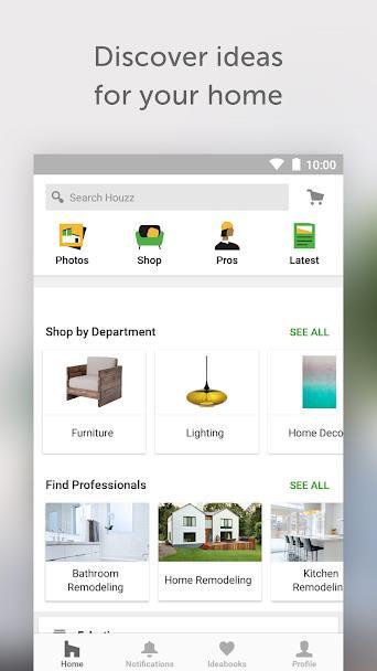 Houzz für Android 20.10.1 - Handbuch für das Wohndesign auf Android