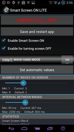 Smart Screen On Lite für Android 1.5 - Bildschirm mit Sensor öffnen