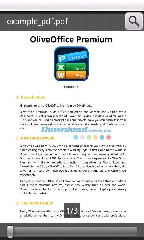 OliveOffice Premium für Android 2.0.1 - Office-Anwendungen für Android