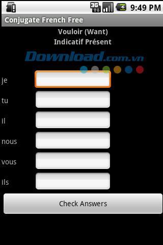 Konjugieren Sie französische Verben für Android 1.0 - Konjugieren Sie französische Verben