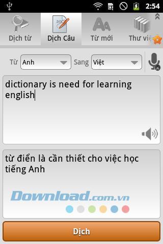 トゥディエン英語-ベトナム-Android用英語1.2.9-英語を検索-ベトナム語-英語辞書