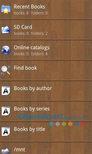 Android用クールリーダー3.1.2-39-携帯電話で本を読む