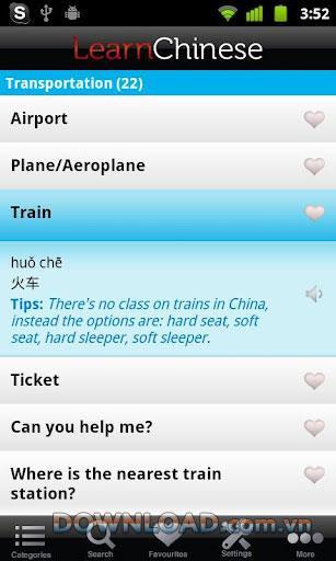 Android2.6用の中国語のマンダリンフレーズを学ぶ-中国語を学ぶ